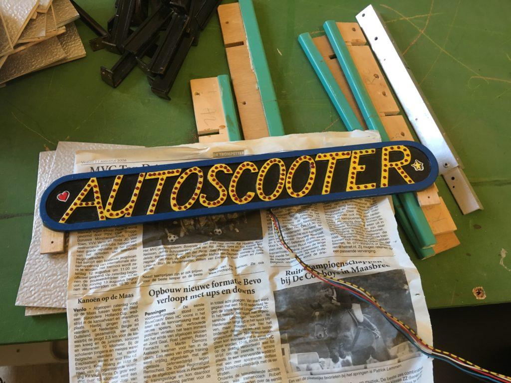 Autoscooter Naambord